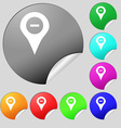 Minus Map pointer GPS location icon sign Set of vector image vector image