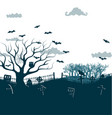 monochrome halloween night background poster vector image vector image
