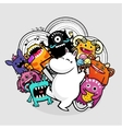 monsters and party vector image vector image