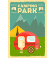 Mountain Camping vector image vector image