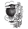 old method of boiling and drying vintage vector image vector image
