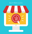 Online shopping concept in flat design styl vector image vector image