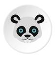 Panda icon flat style vector image