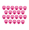 pink balloon discount vector image