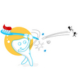 playing teeth vector image vector image
