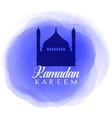 ramadan kareem background with watercolour texture vector image vector image