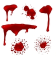 Realistic blood splatters set vector image