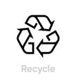 recycle symbol icon editable line vector image vector image
