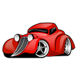 Red Hot Rod Custom Coupe vector image vector image