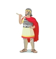 Roman Warrior With Red Cape vector image