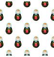 russian doll matryoshka seamless pattern vector image vector image