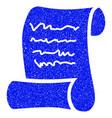 script roll grunge icon vector image vector image