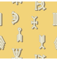 seamless background with nsibidi symbols vector image
