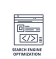 search engine optimization line icon concept vector image vector image