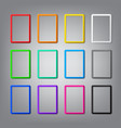 set colored vertical frames with shadows vector image vector image