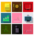 set of finance and banking icons simple elements vector image vector image