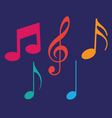 Set of music notes vector image vector image