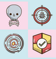 set technology elements with apps icons vector image vector image