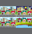 set urban scene vector image vector image