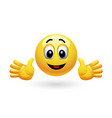 smiley gesturing with his hands vector image