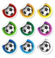 Soccer football stickers labels set vector image