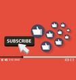suscribe video digital likes followers vector image