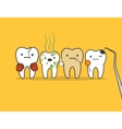 Teeth bad company vector image vector image