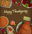 top down thanksgiving dish banner template vector image vector image