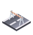 Traffic Barrier vector image vector image