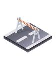 Traffic Barrier vector image