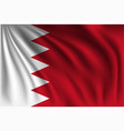 waving bahrain vector image vector image