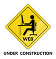 web under construction transit signal vector image