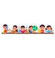 young preschool kids children hold different vector image