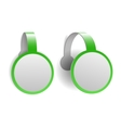 Green advertising wobblers vector image