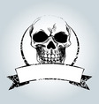Vintage label with skull vector image