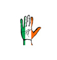 Hand with five fingers stretched upward colors of vector image