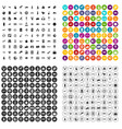 100 wireless technology icons set variant vector image vector image