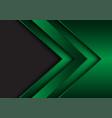 abstract green metallic arrow direction with grey vector image vector image