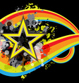 abstract star retro banner design vector image vector image
