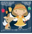 angel with a dog vector image