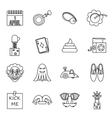 April fools dayicons set outline style vector image vector image