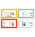 arabic dances landing page template set whirling vector image