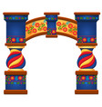 arch with ornament in slavic style isolated on vector image vector image