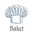 Baker hat sketch icon vector image vector image