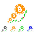 bitcoin inflation chart icon vector image vector image