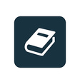 book icon Rounded squares button vector image
