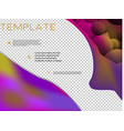 brochure cover brochure with color combination vector image vector image