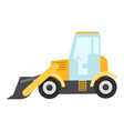 bulldozer icon flat style vector image vector image