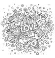 Cartoon hand drawn Doodle Love vector image vector image