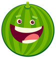 cartoon watermelon fruit character vector image vector image